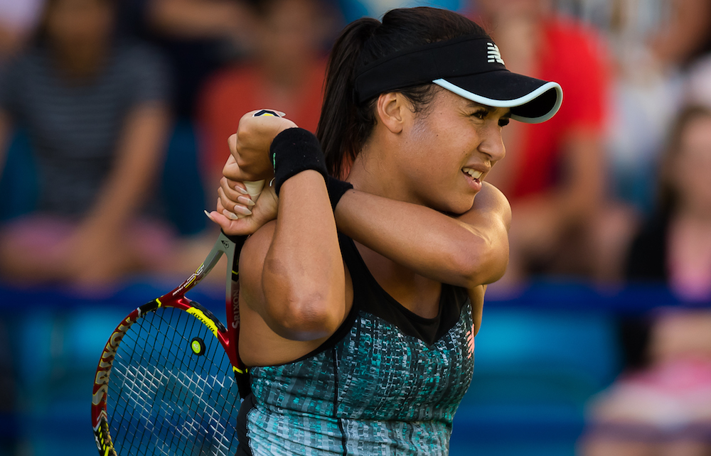 Heather Watson in the first round of the Nature Valley International, WTA Eastbourne 2018
