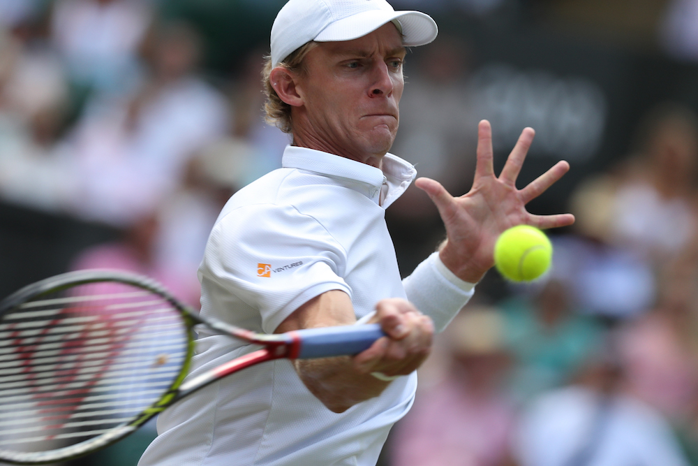 Kevin Anderson in the semi-final of Wimbledon 2018