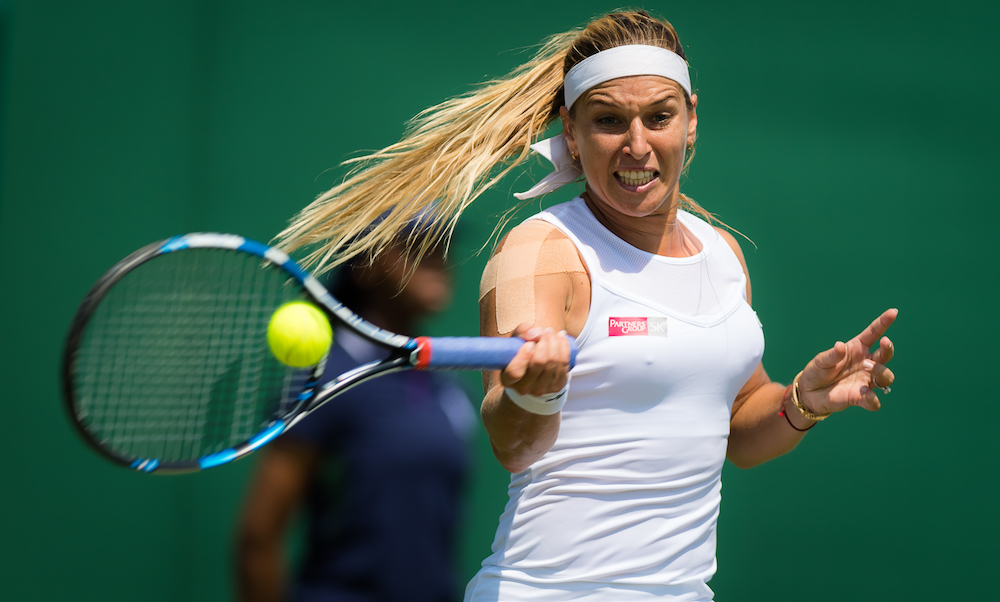 Dominika Cibulkova in the first round, Wimbledon 2018