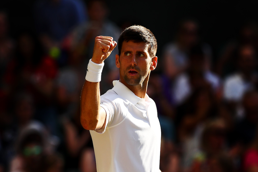 Novak Djokovic in the third round of Wimbledon 2018