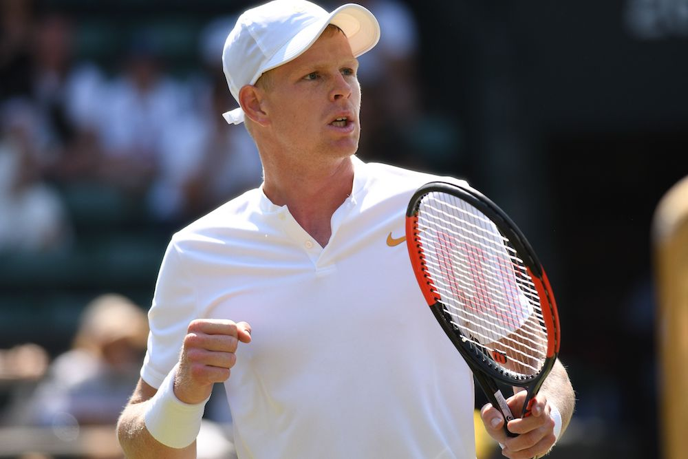 Kyle Edmund in the first round, Wimbledon 2018