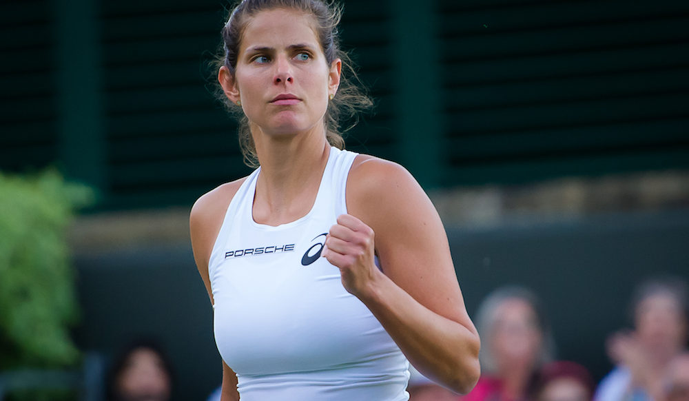 Julia Goerges in the first round of Wimbledon2018