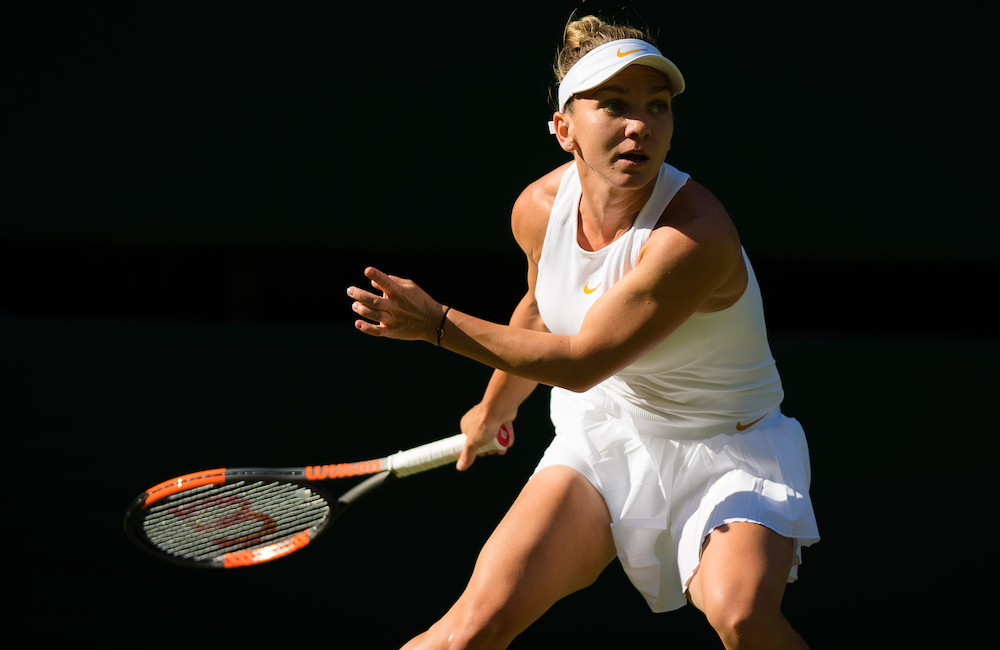 Simona Halep in the first round of Wimbledon 2018