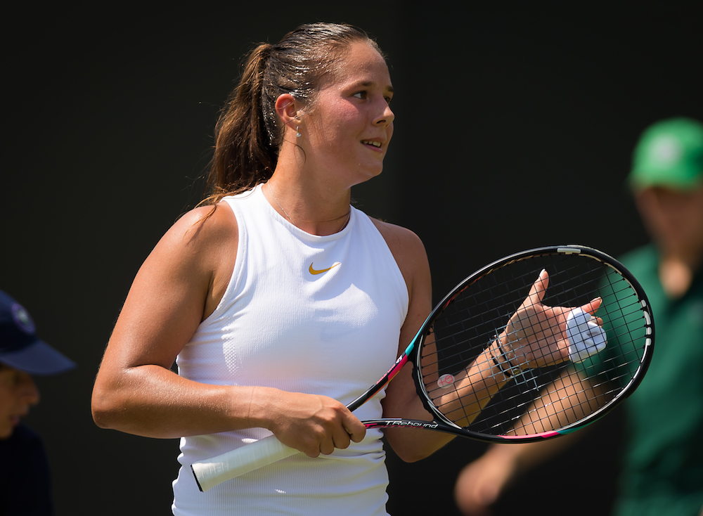 Daria Kasatkina in the third round of Wimbledon 2018