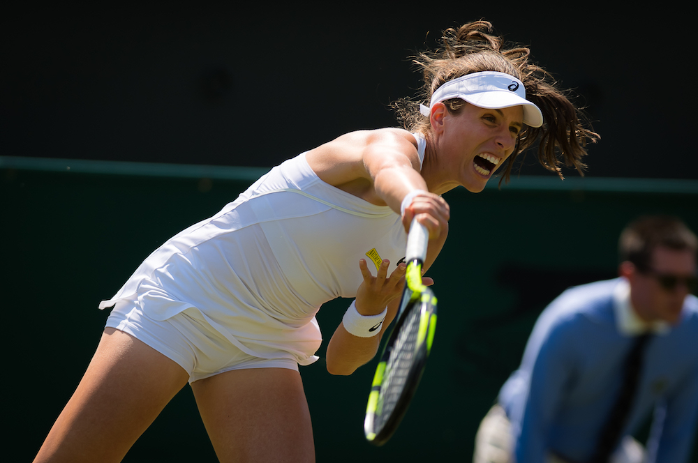 Johanna Konta in the first round, Wimbledon 2018