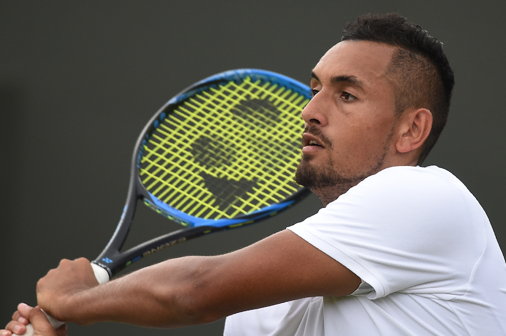 Nick Kyrgios in the second round