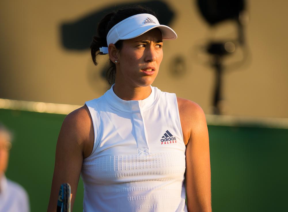 Garbine Muguruza in the second round of Wimbledon, 2018