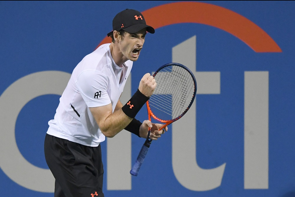 Andy Murray in the first round of the Citi Open, ATP Washington 2018