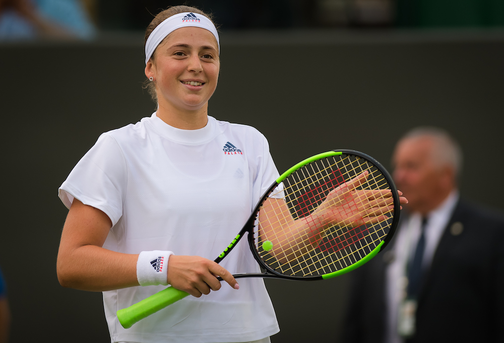 Jelena Ostapenko in the second round of Wimbledon 2018