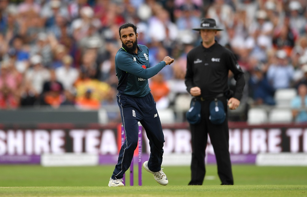 Adil Rashid in the third ODI between England & India, 2018