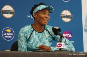 Venus Williams at the Mubadala Silicon Valley Classic Media All Access Hour