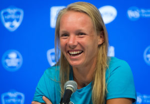 Kiki Bertens after winning the Western & Southern Open, WTA Cincinnati 2018