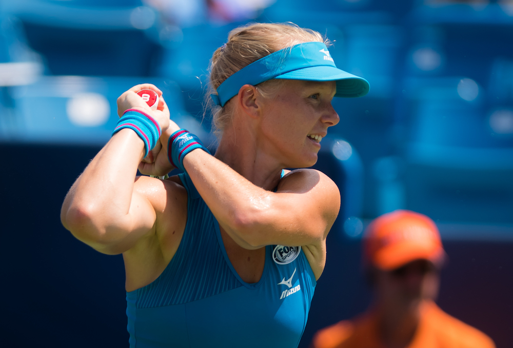 Kiki Bertens in the semi-final of the Western & Southern Open, WTA Cincinnati 2018