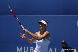 Mihaela Buzarnescu in the quarter-final of the Mubadala Silican Valley Classic, WTA San Jose 2018
