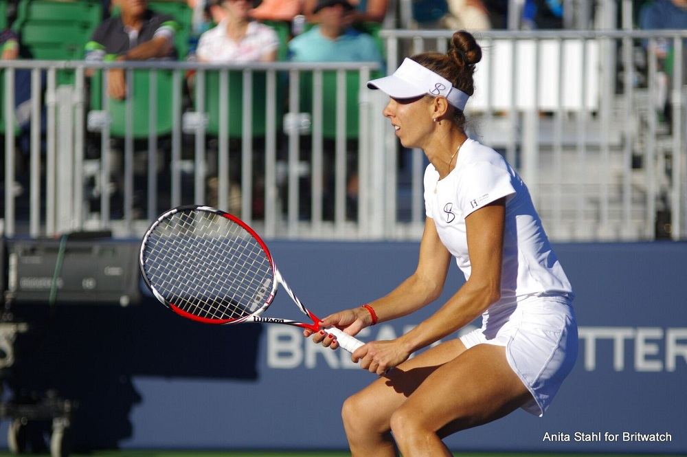 Mihaela Buzarnescu in the semi-final of the Mubadala Silicon Valley Classic, WTA San Jose 2018