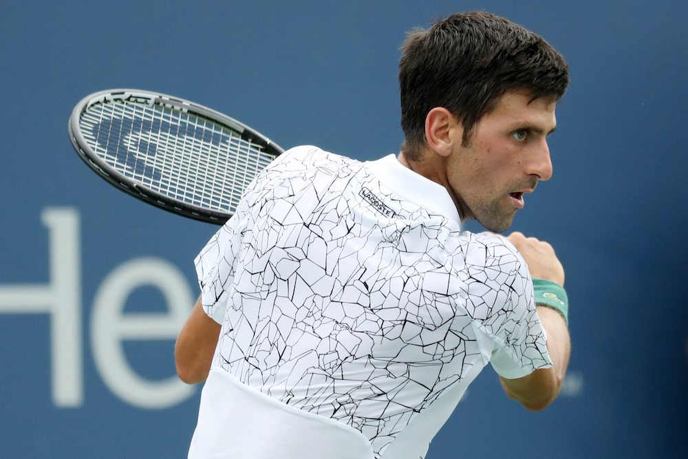 Novak Djokovic in the second round of the Western & Southern Open, ATP Cincinnati 2018