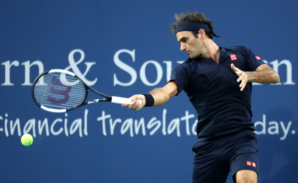 Roger Federer in the second round of the Western & Southern Open, ATP Cincinnati 2018