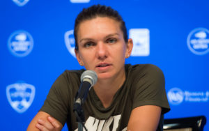 Simona Halep at her post-match press conference after the Western & Southern Open, WTA Cincinnati 2018