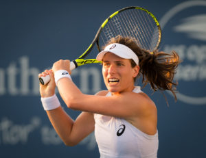 Johanna Konta in the first round of the Western & Southern Open, WTA Cincinnati 2018