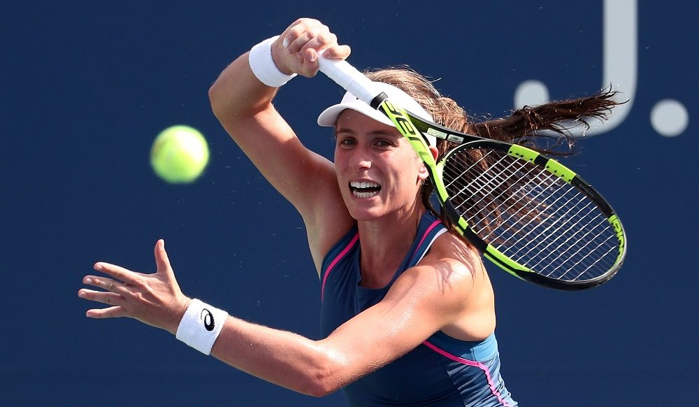 Johanna Konta in the first round of the US Open, New Yiork 2018