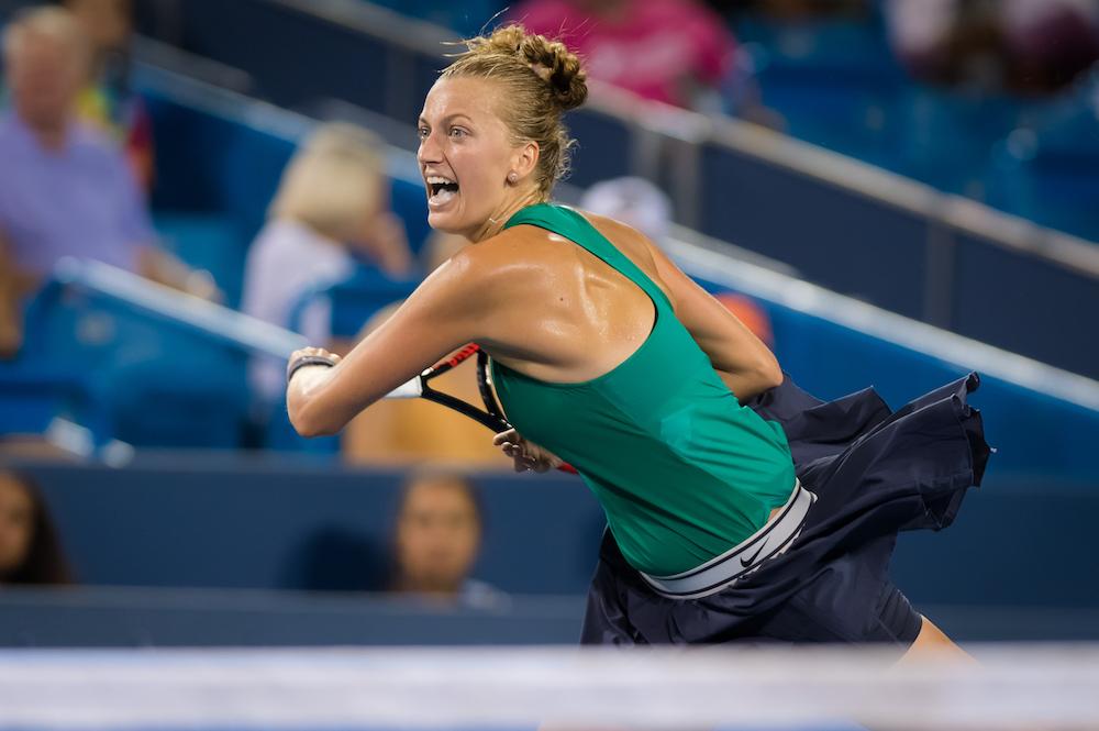 Petra Kvitova in the second round of the Western & Southern Open, WTA Cincinnati 2018