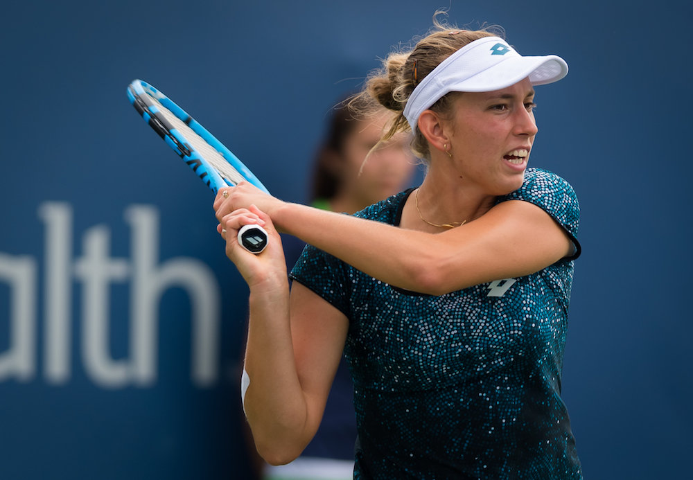 Elise Mertens in the quarter-final of the Western & Southern Open, WTA Cincinnati 2018