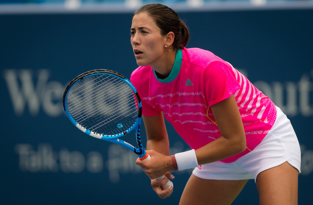 Garbine muguruza in the second round of the Western & Southern Open, WTA Cincinnati 2018