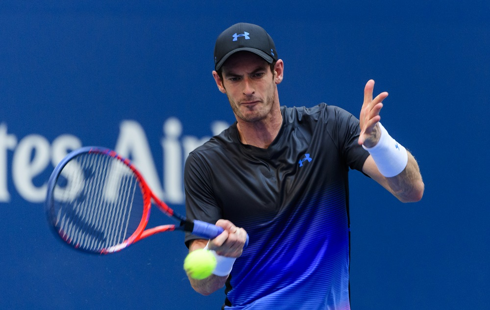 Andy Murray in the second round of the US Open, New York 2018