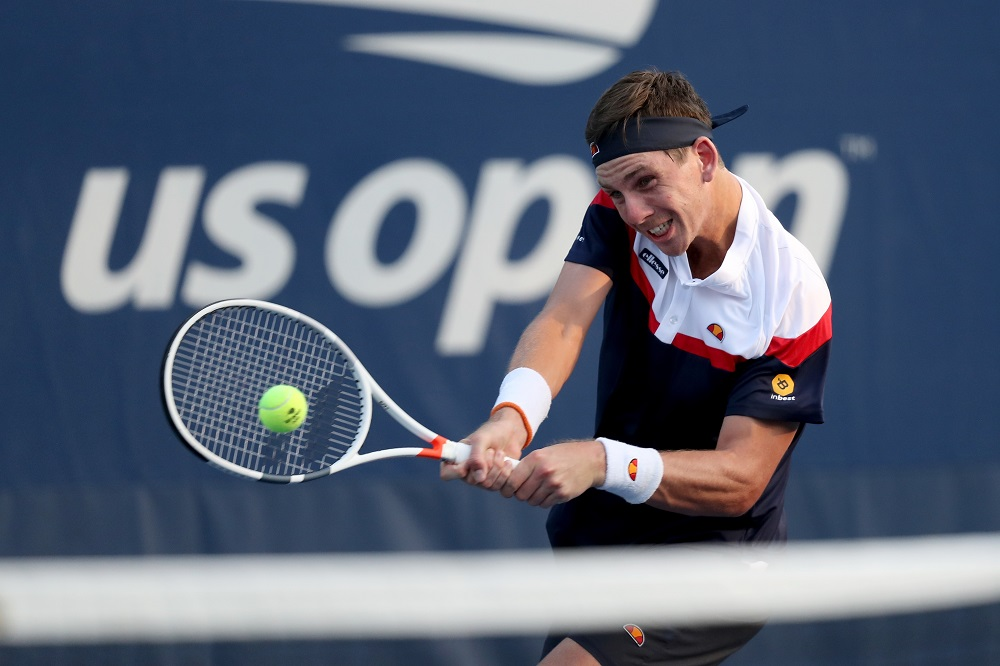 Cameron Norrie in the first round of the US Open, New York 2018