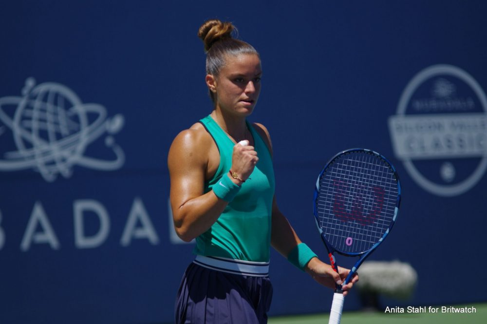 Maria Sakkari in the quarter-finals of the Mubadala Silicon Valley Classic, WTA San Jose 2018