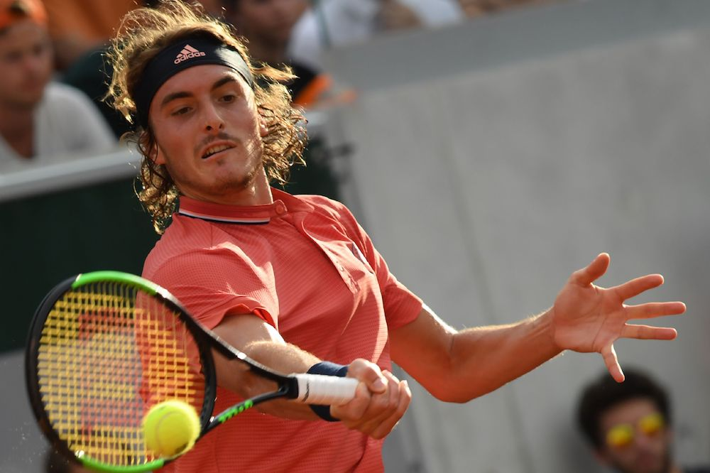 Stefanos Tsitsipas in the second round of Roland Garros, Paris 2018