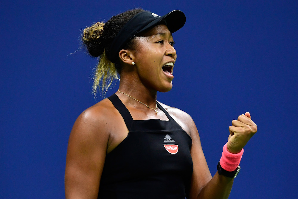 Naomi Osaka in the final of the US Open, New York 2018