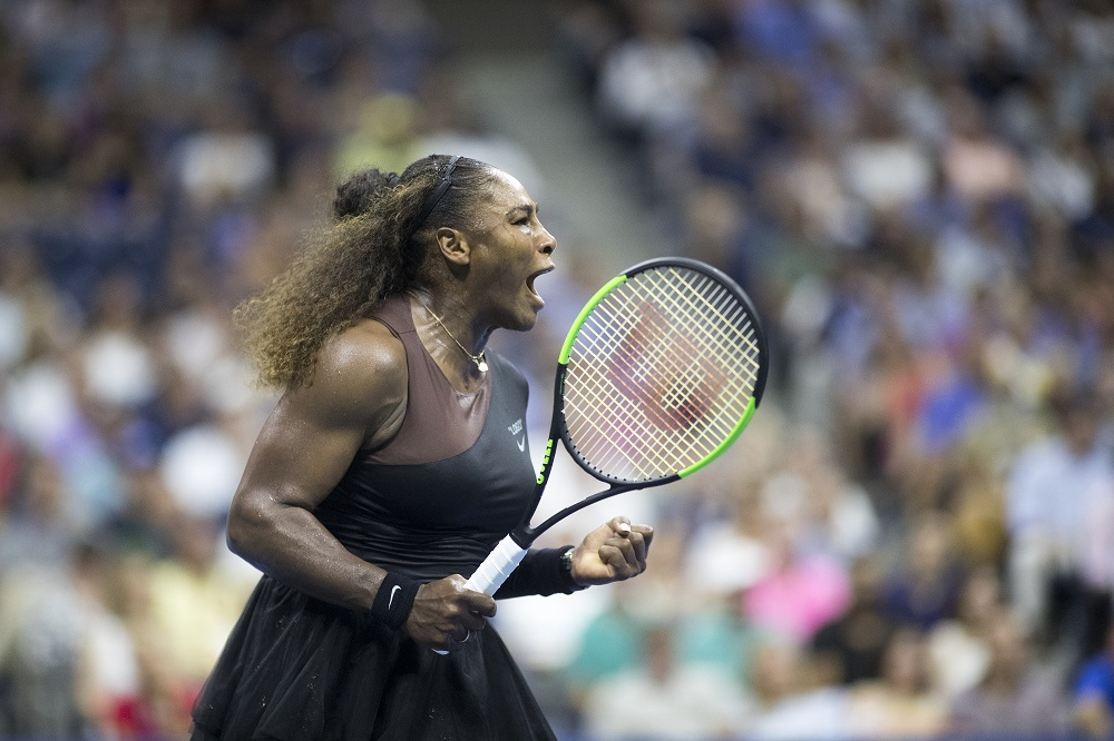 Serena Williams in the quarter-final of the US Open, New York 2018