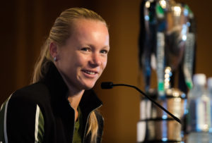 Kiki Bertens at the Media All Access day, WTA Finals 2018 Singapore