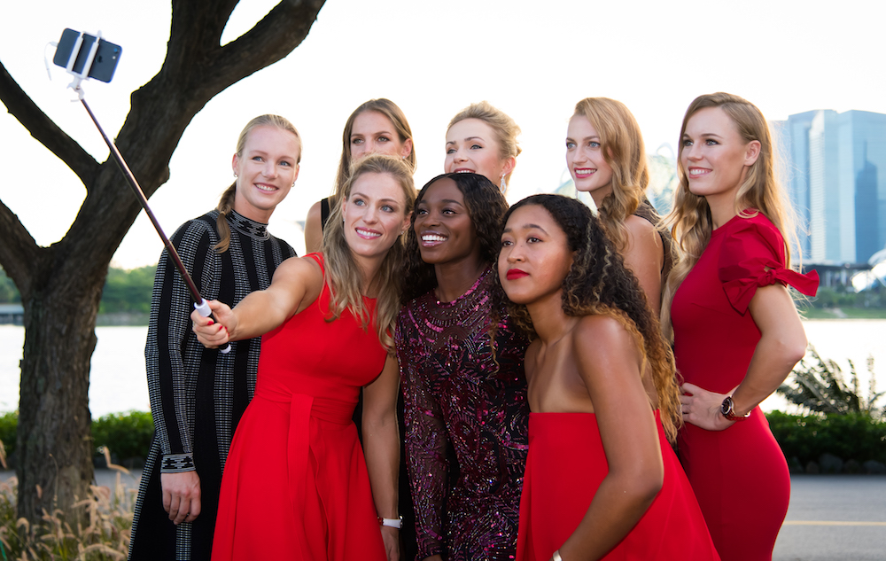 The Final 8 at the Gala iconic photoshoot, WTA Finals 2018 Singapore