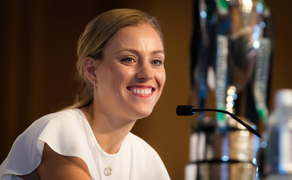 Angelique Kerber in the Media All Access day at the WTA Finals, Singapore 2018