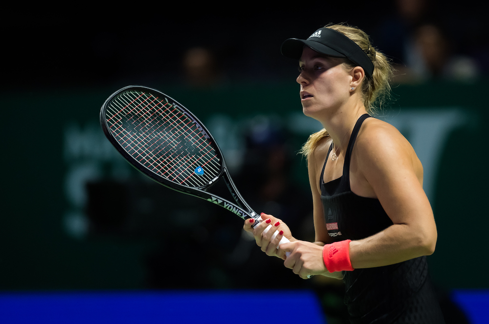 Angelique Kerber in the first round robin match at the WTA Finals 2018, Singapore