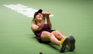 Elina Svitolina winning the WTA Finals 2018, Singapore