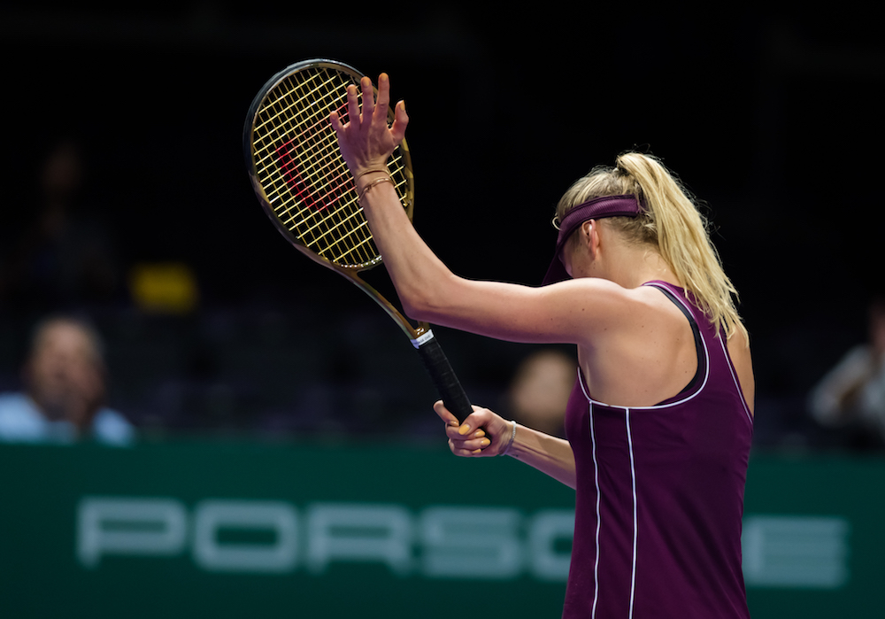 Elina Svitolina in the second round robin match of the WTA Finals 2018, Singapore