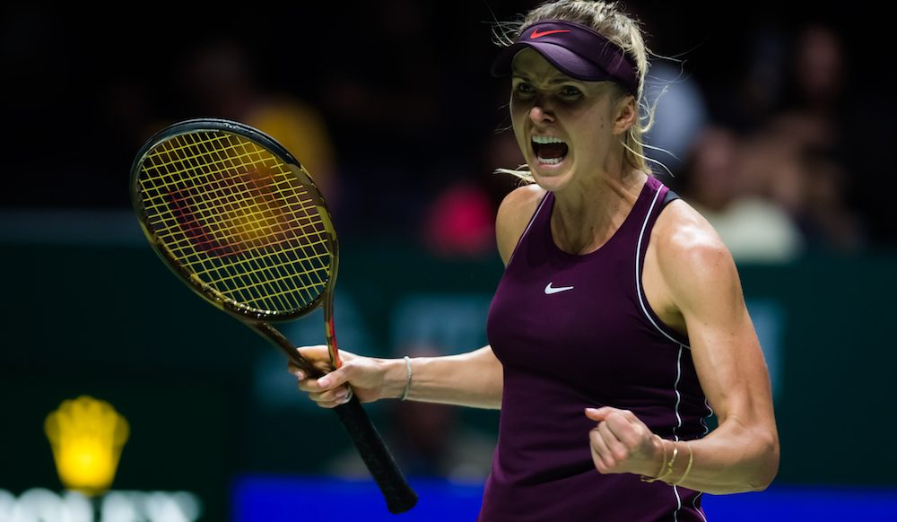 Elina Svitolina in the third round robin match of the WTA Finals 2018, Singapore
