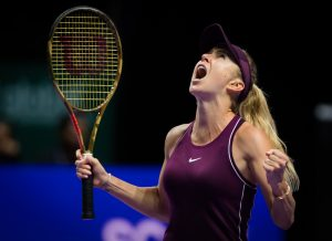 Elina Svitolina in the semi-final of the WTA Finals 2018, Singapore