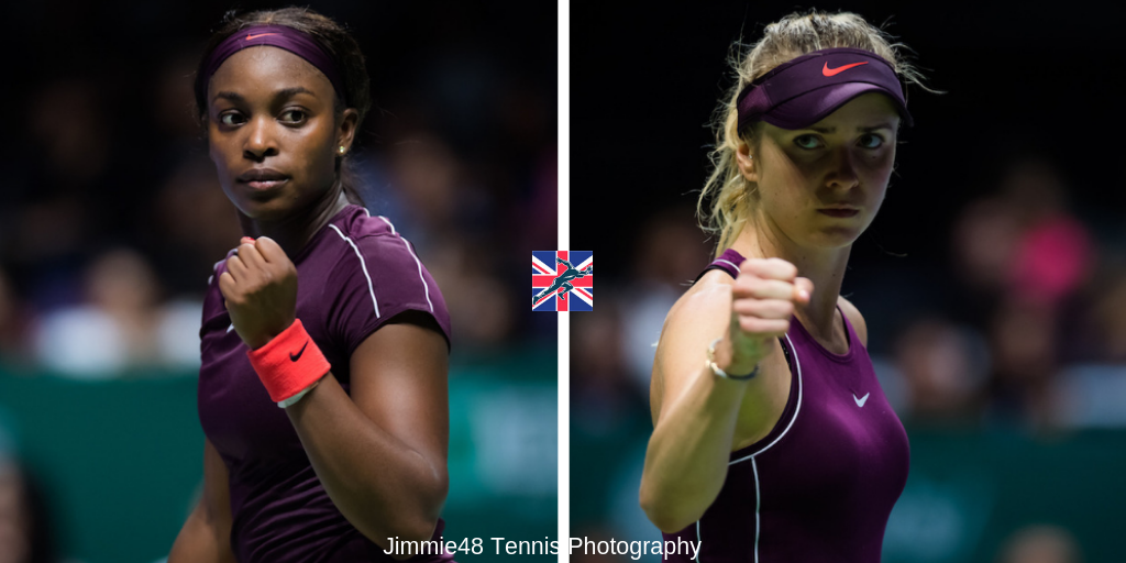 Sloane Stephens and Elina Svitolina WTA Finals 2018, Singapore