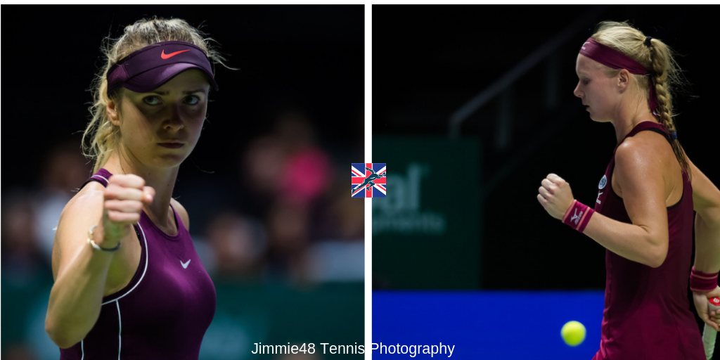 Elina Svitolina and Kiki Bertens ahead of the semi-finals of the WTA Finals 2018, Singapore