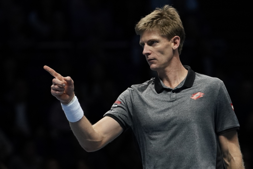 Kevin Anderson in the first round-robin match at the ATP World Tour Finals 2018, London