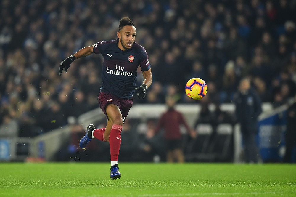 Pierre-Emerick Aubameyang during the Premier League football match between Brighton and Hove Albion and Arsenal (GLYN KIRK/AFP/Getty Images)