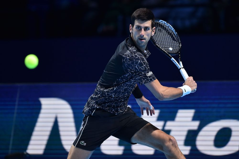 Novak Djokovic in the second round robin match of the ATP world Tour Finals 2018, London