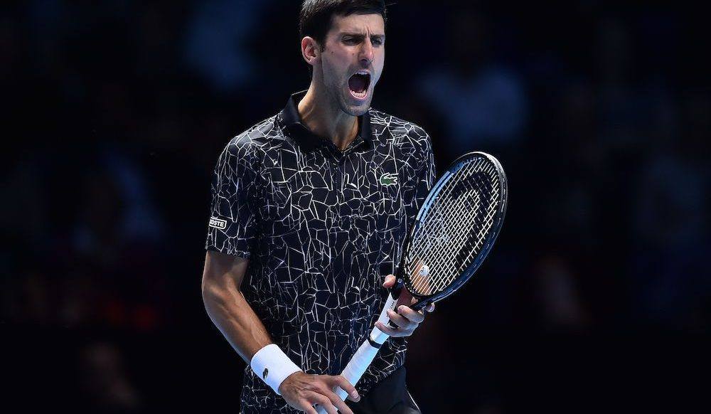 Novak Djokovic in the first round robin match at the ATP World Tour Finals 2018, London