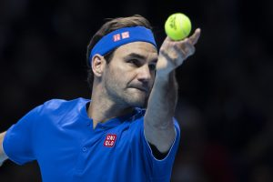 Roger Federer in the third round-robin at the ATP World Tour Finals 2018, London