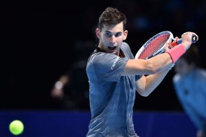Dominic Thiem in the first round-robin match at the ATP World Tour Finals 2018, London