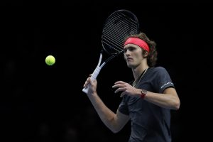 Alexander Zverev in the first round-robin at the ATP World Tour Finals 2018, London